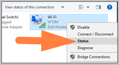 Wifi connection status