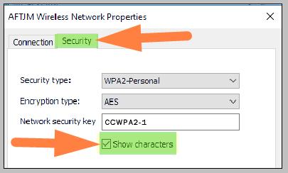 show wifi password