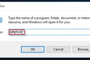 netplwiz windows 10