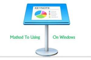 Keynote for windows pc