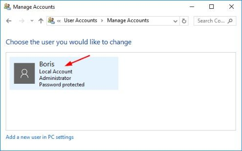 password function