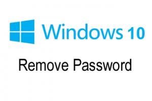 guide to remove password windows 10