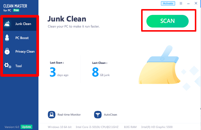 Clean Master Features