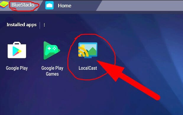 install LocalCast on PC