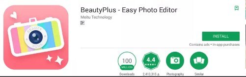 Install BeautyPlus For PC