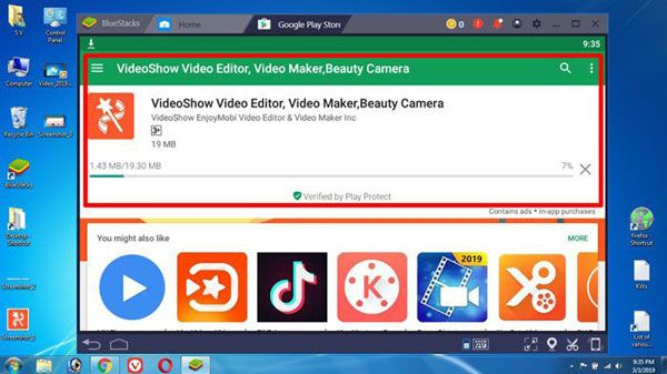 download and install videoshow on windows PC
