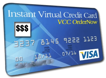 interface of a Virtual Credit Card